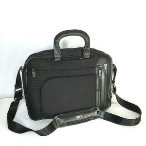 Tumi Black T Pass Kennedy Deluxe Brief Case Bag